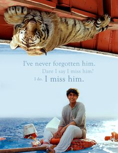 Life of Pi. Finally saw this extraordinary movie and loved it very much. Life Of Pi Tiger, Life Of Pi Quotes, Hugo Cabret, League Of Extraordinary Gentlemen, Movie Co, Around The World In 80 Days, In And Out Movie, Famous Movies, I Miss Him