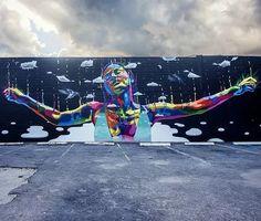 Street Art by Dasic Fernandez in St. Petersburg, Florida.