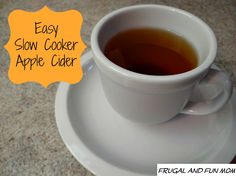 Homemade Apple Cider in Slow Cooker for pumpkin party I didn't taste it but people were boozing it up all night