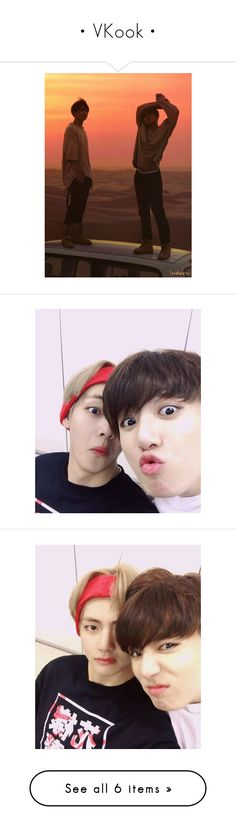 """• VKook •"" by mochiimin ❤ liked on Polyvore featuring bts"