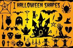 Best Halloween Vector Shapes Set