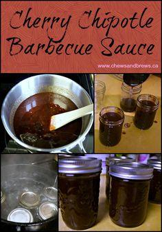 Cherry Chipotle Barbecue Sauce ~ www.chewsandbrews.ca