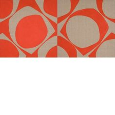 Patrick Scott, 1921 - 2014 Rosc Diptych, 1967 Acrylic on canvas 122 x 243 cm Donation, the artist Museum Of Modern Art, Irish, Display, Canvas, Gallery, Artwork, Red, Collection, Space