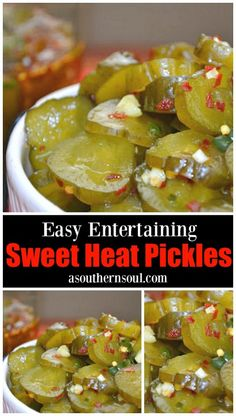 Sweet heat pickles made with dill, herbs and hot peppers are great for snacking, on burgers, dogs and perfect for game day. Pickled Sweet Peppers, Stuffed Sweet Peppers, All You Need Is, Tandoori Masala, Homemade Pickles, Homemade Syrup, Sweet Pickles, Sweet Fire Pickles Recipe, Canning Recipes