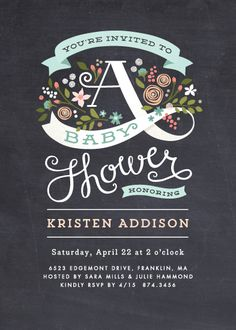 baby shower invitations - Banner Shower by Jennifer Wick