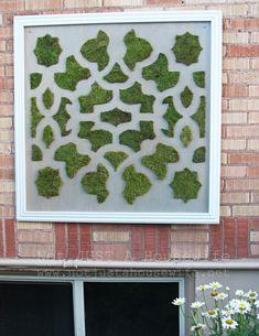 Cutting Edge Stencils shares a step-by-step tutorial on how to create stenciled moss graffiti art using the Zamira Stencil. Stencils, Stencil Diy, Stencil Designs, Graffiti Ideas, Graffiti Art, Terrarium, Moss Art, Moroccan Stencil, Moss Garden