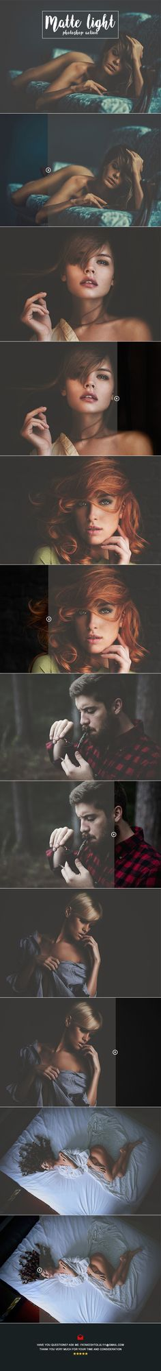 Real Matte Light Photoshop Action — Photoshop ATN #retouching #matte • Available here → https://graphicriver.net/item/real-matte-light-photoshop-action/19362937?ref=pxcr