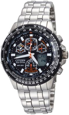 Sporting a rotating slide rule bezel, the #Citizen Skyhawk A-T stainless steel men's flight watch offers advanced timing functions and the latest technology. It's powered by Citizen's unique #Eco-Drive