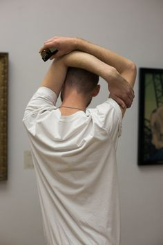 Wolfgang Tillmans Takes Pictures of Modern Life, Backlit by the Past Human Poses Reference, Body Reference, Photo Reference, Enjolras Grantaire, Wolfgang Tillman, Portrait Photography, Fashion Photography, Shaved Head, Art Poses