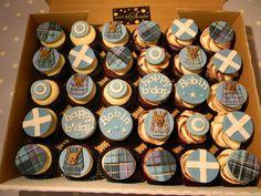 59 Ideas birthday cupcakes for men cream cheese frosting for 2019 Cupcakes For Men, Fun Cupcakes, Birthday Cupcakes, Cupcake Cakes, Wedding Cupcakes, Outlander, Celtic Food, Burns Supper, Tartan