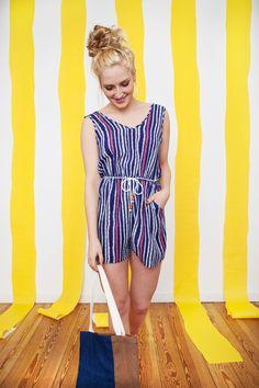 Jumpsuit mit Streifen für den Strand oder die Party / jumpsuit with stripes, summer hipster style by Riekmund via DaWanda.com