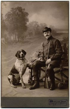 A German short-haired Pointer from the Libby Hall collection