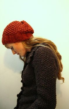 Seriously quick and great slouchy knit hat (2 hours). Plus the pattern comes with a version for your kiddo that uses up the remaining yarn. This is a terrific beginner pattern.