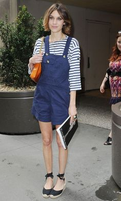 Alexa Chung Teams Her Pretty Green Dress With Futuristic Silver Shoe Boots, September 2010