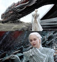 Dany and Drogon, 7.6 Game of Thrones.
