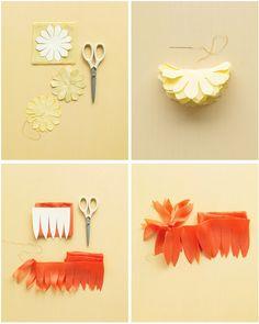 Fabric flowers. #DIY