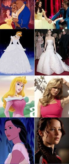 Proof of J-Law being a Disney princess