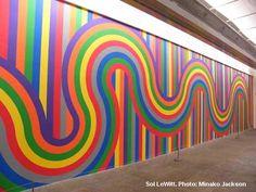 shine brite zamorano: the idea man. For my art room wall. Murals Street Art, Mural Wall Art, Mural Painting, Art Fou, Graffiti, School Murals, Collaborative Art, Art Moderne, Geometric Wall