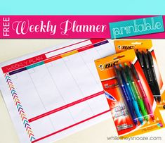 While They Snooze: Get Organized for Back-to-School + Free Weekly Planner Printable