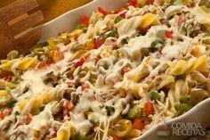 Receita de Salada de macarrão com frango e catupiry em receitas de saladas, veja essa e outras receitas aqui!
