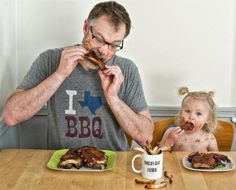 baby back ribs/a whole bunch of father-daughter pics good for a laugh.
