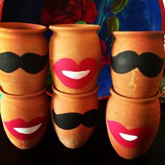 Cantaritos Jarritos Mustache Lips