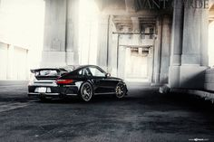Take a look at the Revised Fascia of Menacing Black Porsche 911 photos and go back to customizing your vehicle with renewed passion. Porsche Wheels, Porsche Cars, Black Rims For Sale, Black Porsche, Custom Wheels