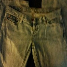 American Eagle Jeans Boot cut Very hot jeans to small for me, tag gone but they have never been worn American Eagle Outfitters Jeans