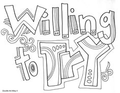 Characteristics of Successful students - Coloring Pages