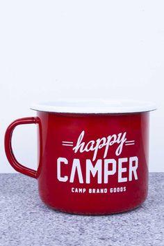 CBG ENAMELWARE // RED HAPPY CAMPER MUG | Camp Brand Goods
