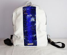 Image of PE Smurf Leather Backpack