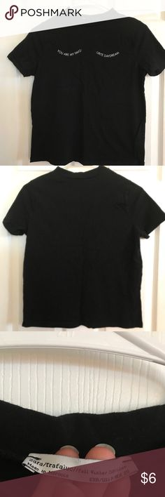 """Black Zara tee with text Zara """"you are my favourite daydream"""" tee 💭 can fit sizes small-medium, up to 34"""" bust, 20"""" overall length Zara Tops Tees - Short Sleeve"""