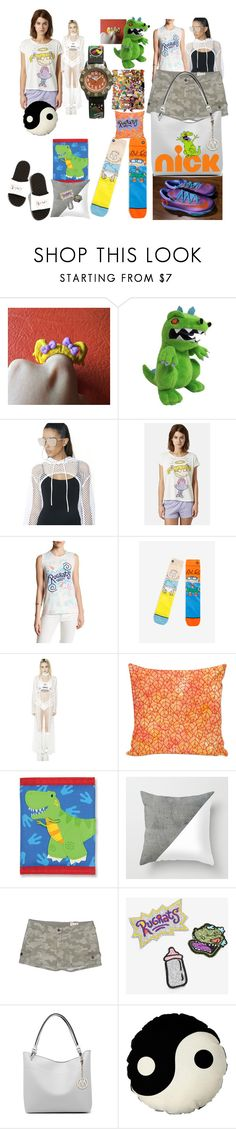 """""""Stay in watch cartoons"""" by lerp ❤ liked on Polyvore featuring K Too, Topshop, Junk Food Clothing, NIKE, Stephen Joseph, Arizona Jean Company and MKF Collection"""