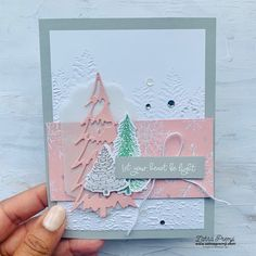 Create Christmas Cards, Christmas Card Crafts, Christmas Tree Cards, Stampin Up Christmas, Xmas Cards, Holiday Cards, Stampin Up Weihnachten, Sheep Cards, Make Your Own Card