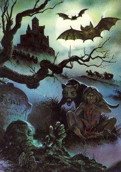 Dark Night in Greylore Gothic Horror, Arte Horror, Gothic Art, Halloween Horror, Halloween Art, Halloween Signs, Dark Fantasy Art, Dark Art, Horror Show