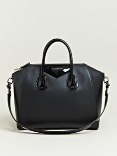 "what-do-i-wear  "" A Givenchy Antigona bag in black matte leather with patent  details at off here. They also have another Antigona model, slightly more  ... 5c0d0fbfb3"