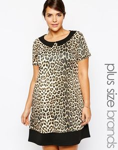 db567b78fd Pink Clove Animal Shift Dress Plus Fashion