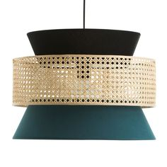 Abat-jour suspension cannage DOLKIE The Dolkie pendant lampshade by La redoute Interiors. Ringed in a rattan cane, it displays a very trendy vintage s Style Vintage, Vintage Fashion, Ceiling Pendant, Ceiling Lights, Pendant Lamps, Pendant Lighting, Wall Light Shades, Tons Clairs, Rattan Lamp