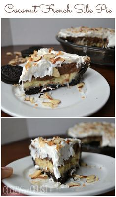 Coconut French Silk Pie | crazyforcrust.com