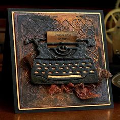 Retro Typewriter, Scrapbooking, Penny Black, Masculine Cards, Tim Holtz, Christmas Projects, Homemade Cards, Birthday Cards, Card Making