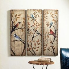 birds painted on wood - Google Search