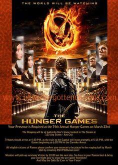 Hunger games custom birthday invitation custom designed hunger games viewing party invitation featuring peeta katniss and you this invite stopboris Images