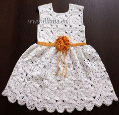 Häkelanleitung: Baby-Kleidchen von Illiana auf Etsy https://www.etsy.com/de/listing/122346526/hakelanleitung-baby-kleidchen