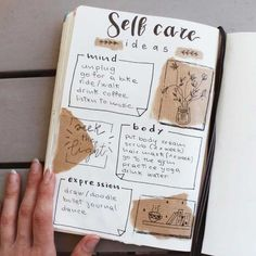 Have you tried these self-care bullet journal ideas yet? Self-love and self care is NOT selfish, its essential ALWAYs. This post is an inspirational list of mental health bullet journal layouts includ Diy Bullet Journal, Bullet Journal Doodles, Minimalist Bullet Journal, Self Care Bullet Journal, Bullet Journal Notebook, Bullet Journal Aesthetic, Bullet Journal Themes, Bullet Journal Spread, Bullet Journal Layout