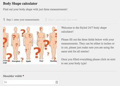 Women Fashion Style Apps -- Body Shape Calculator