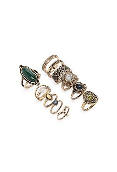 Faux Stone Ring Set | Forever 21 - 1000164818