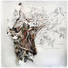 Title: Still life with silk camellias / Natura morta con camelie di seta Dim: cm 100x100 Technique: oil and pencil on canvas / olio, matita su tela Year: 2015
