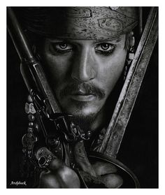 Captain Jack Sparrow / Johnny Depp - Pencil Drawing by Randy Atwood - Thor, Aragorn, and other tasty morsels Cool Pencil Drawings, Amazing Drawings, Pencil Art, Amazing Art, Pen Drawings, Pretty Drawings, Beautiful Drawings, Disney Drawings, Awesome