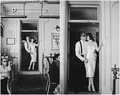 chic bride and groom, black and white | Kariz Matik | Bridal Musings