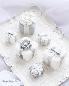 white & silver sugar box